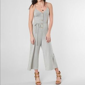Stripped jumpsuit.